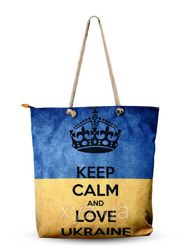Сумка текстильная Love Ukraine-Флаг, фото 1