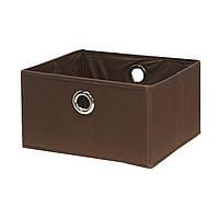 Тканевая корзина для белья Home4You Basket 30x30xH17cm  brown