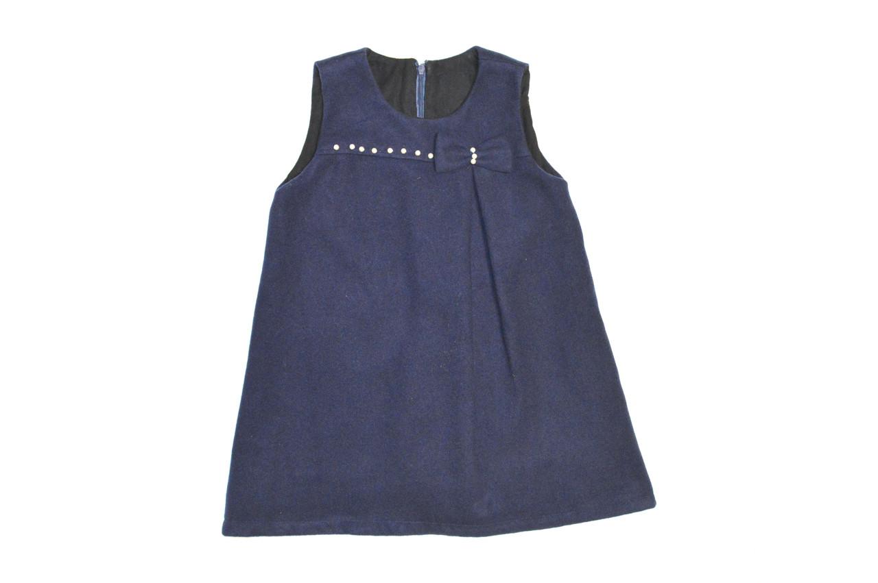 Платье детское теплое  « Кашемировое с жемчугом ».