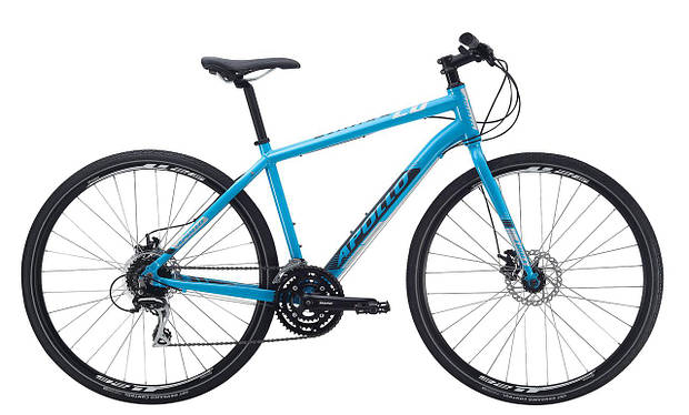 "Велосипед 28"" Apollo TRACE 20 HI VIZ 2017 Gloss Blue/Gloss Charcoal/Reflective"