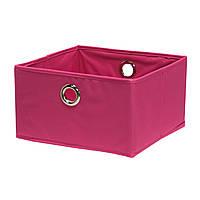 Розовая корзина для белья ткань Home4You Basket 30x30xH17cm  pink