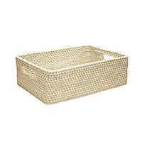 Корзина для фруктов плетеная ротанг Home4You CELESTE-1  33x25xH12cm  rattan  washed white