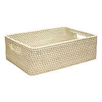 Корзинка из плетеного ротанга для фруктов Home4You CELESTE-2  45x29xH14cm  rattan  washed white