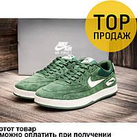 Мужские кроссовки Nike Air Max, замшевые, зеленые / бег кроссовки мужские Найк Аир Макс, стильные