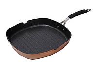 Сковорода - гриль с антипригарным мраморным покрытием Bergner BGIC-1004