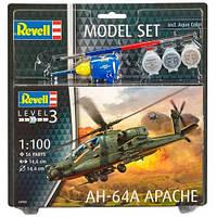 Model Set Вертолет AH-64A Apache, 1:100, Revell