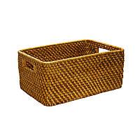 Корзина для фруктов плетеная Home4You CREPIN-1  33x25xH12cm  rattan  brown