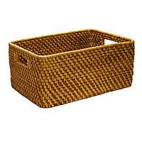 Корзинка плетеная для фруктов Home4You CREPIN-2  45x29xH14cm  rattan  natural color