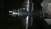 Тройник-ревизия 90° для дымохода 0,8 мм нерж/оц.