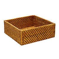 Корзинка для фруктов оригинальная ротанг Home4You CREPIN  25x25xH10cm  rattan  brown