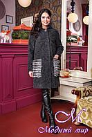 Женское зимнее пальто с капюшоном (р. 44-58) арт. 1001 Тон 260