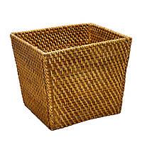 Корзинка из ротанга для фруктов плетеная Home4You CREPIN  27x23xH23cm  rattan  brown