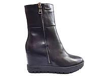 Полусапожки женские кожаные демисезонные на танкетке Fashion Footwear