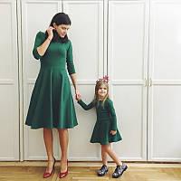 Платья в строгом стиле мама-дочка