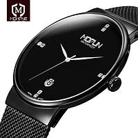 Кварцевые Часы MODUN черные ультратонкие 7мм водонепроницаемые