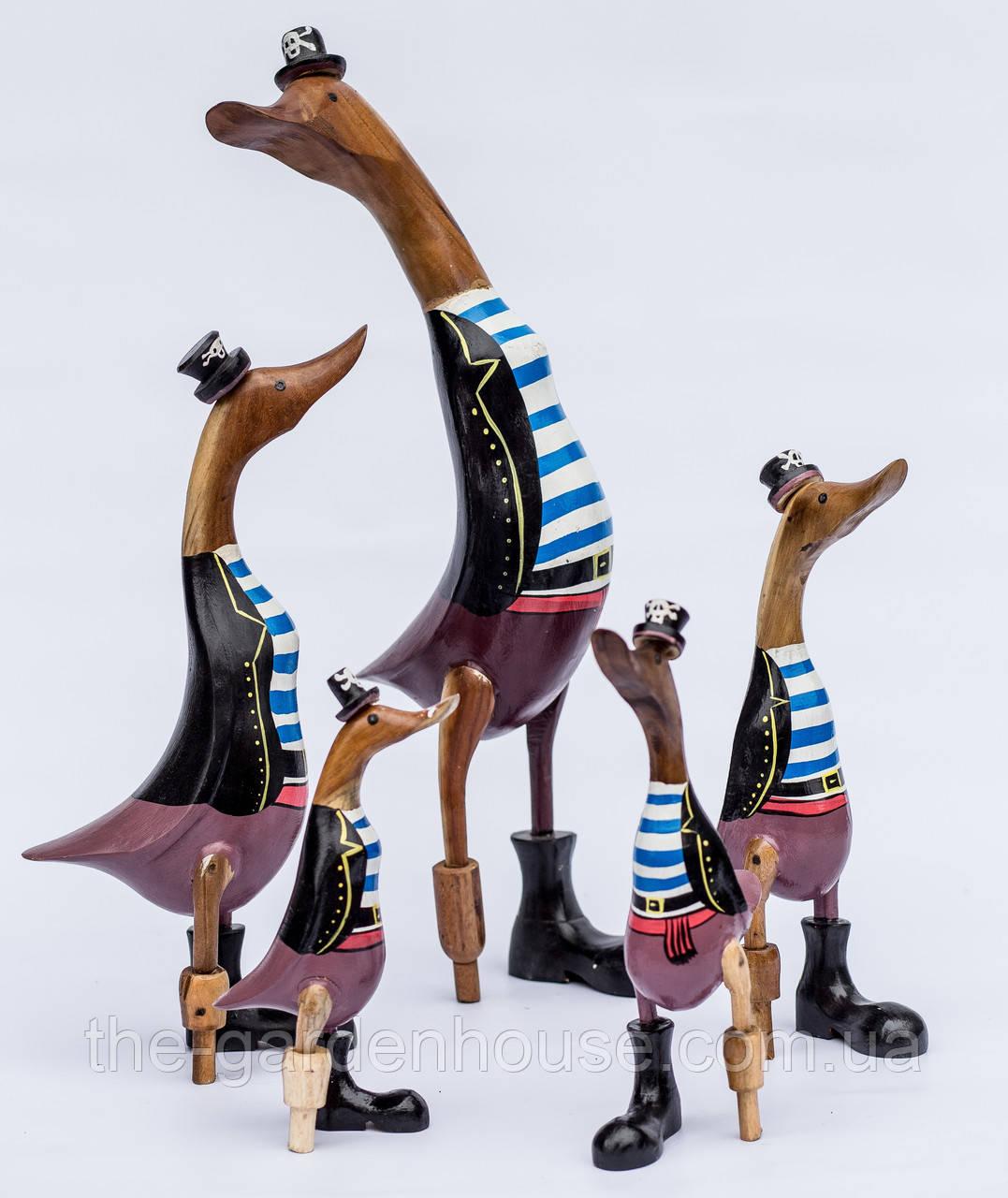 """Набор статуэток """"Утка-пират на костыле"""""""