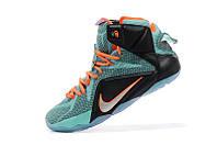 Баскетбольные кроссовки Nike Lebron 12 blue-black