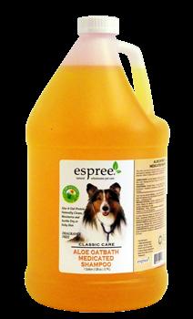 Espree Aloe Oat bath Medicated Shampoo, 3,79 л - успокаивающий шампунь для собак из овса и алоэ