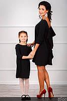 Платье с большим бантом на спине Family look (мама дочка)