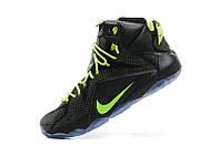 Баскетбольные кроссовки Nike Lebron 12 black-green