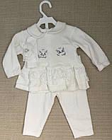 Детский   крестильный костюм для девочек из интерлока