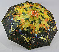 "Зонтик женский полуавтомат сатин на 9 спиц от фирмы ""GoldFish"""
