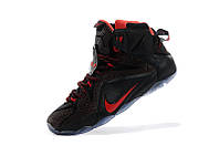 Баскетбольные кроссовки Nike Lebron 12 black-red
