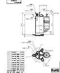 Компрессор Toshiba PA215М2AS-4KU  (18.000 BTU) R410, фото 2