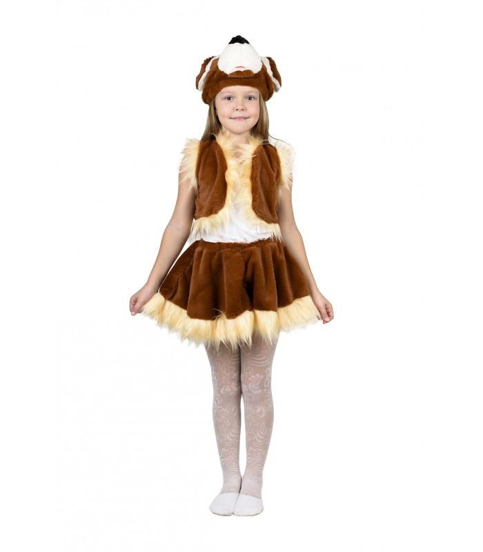 Карнавальный костюм Собачки для девочки мех (4-7 лет)