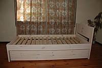 Кровать из натурального дерева детская Ушки 1 (200х90), фото 1