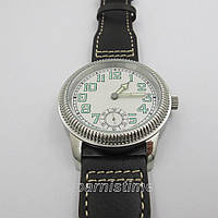 44mm Parnis Small Second Seagull Hand Winding Men's Casual Watch Beautiful Bezel