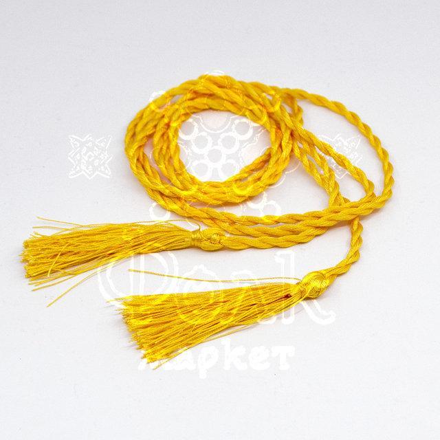 Пояс-косичка шелковый
