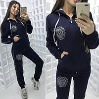 Женский теплый спортивный костюм кофта и штаны, фото 1
