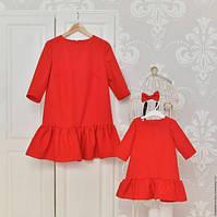 Платья мама дочка короткое цвета в ассортименте, фото 1