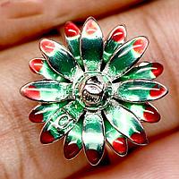 Серебряное кольцо, эмаль, 756КЭ, фото 1