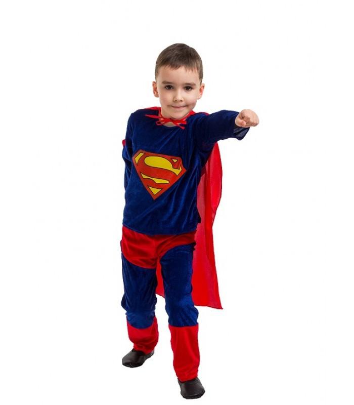 Карнавальный костюм  Супермена велюр (4-7 лет)