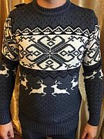 Мужской шерстяной свитер с оленями,Турция