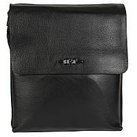 Практичная мужская сумка через плечо черная High Touch HT005120-31