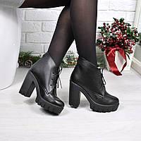 Ботинки женские Pill черные Зима 3910 39 размер, ботинки женские