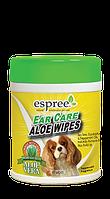 Espree Ear Care Wipes, 60 шт - салфетки для удаления ушной серы для собак