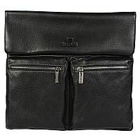 Оригинальная мужская сумка из натуральной кожи черная (Италия) Lare Boss LB008259-11