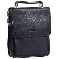 Мужская кожаная сумка-барсетка черная Lare Boss LB0049617-21