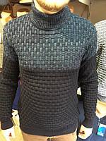 Теплый шерстяной свитер-стойка,Турция