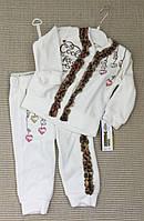 Детский велюровый  крестильный костюм  для девочек