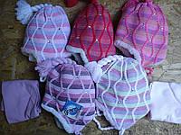 шапка для девочки на меху