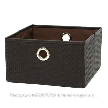 Корзина из ткани для белья Home4You 30x30xH17cm  brown  PU-leather  складная