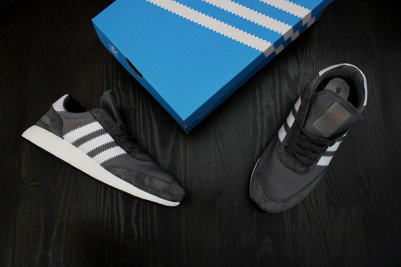 Мужские Кроссовки Adidas Iniki Runner Grey (реплика)