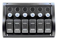 Панель на 6 переключателей (1 под сигнал) 10016-BK