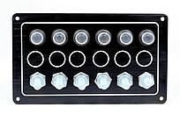 Панель на 6 переключателей 10062-BK