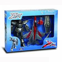 Игровой набор - Робот-Трансформер 15 см, Самолет, Воин, X-BOT 82020R
